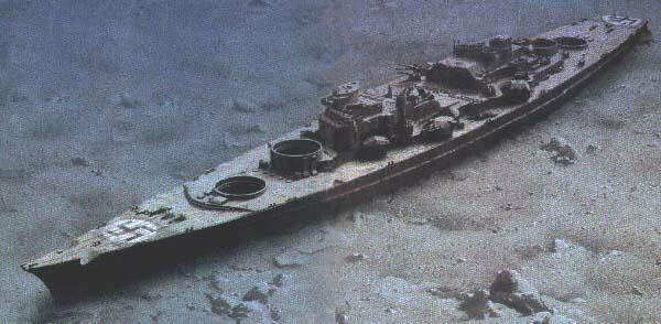Wreck+Images+Of+Battleship+Bismarck bismarck wreck site
